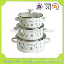 3 Pcs Enamelware Casserole concrete flower soup pot molds