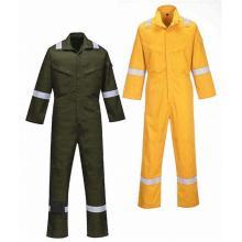 Vestuário de protecção anti-fogo e retardador de chamas