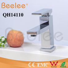 Solid Brass Chromed Square Single Handle Deck Mount Hot and Cold Basin Faucet