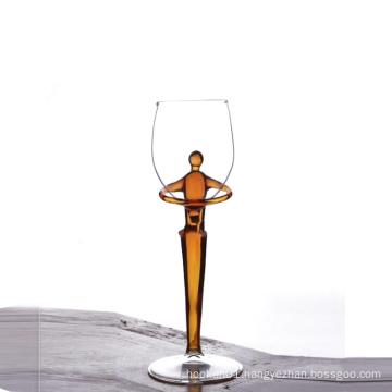 Creative design borosilicate glass champagne cup goblet