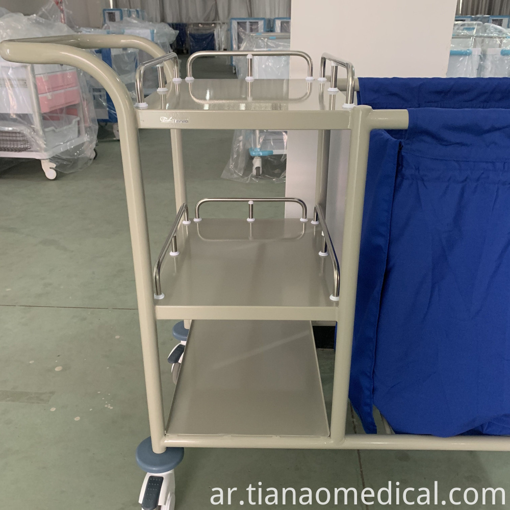 Hospital Steel Linen Trolley