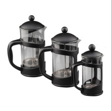 Black Plastic Outer Borosilicate Coffee Maker French Press