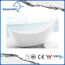 Bathroom White Free-Standing Acrylic Bathtub (AB6829)