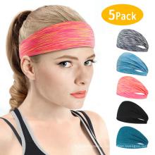 Wholesale Fashion Hairband Non-Slip Sweatband Sport Headbands Custom Women&Men Headband for Yoga