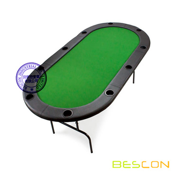 2016 Hot Selling Folding Poker Table with Nine Cup Holders 82 x 42