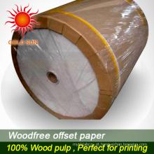 Papel offset impermeável de alta qualidade para impressão offset
