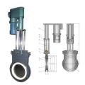Electric –Hydraulic thin ceramic gate valve