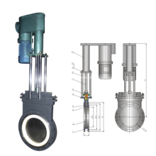 Electric –Hydraulic thin ceramic gate valve