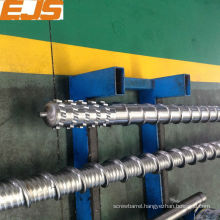Bimetallic extruder screws and barrel for pvc extruding
