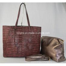 Напечатано змеиной кожи женские кожаные сумки (ZX216)