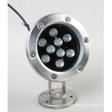 9W LED Underwater Light Single Color Waterproof