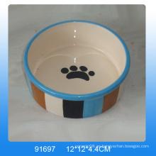 Tazón de perro de cerámica de diseño de huella de alta calidad