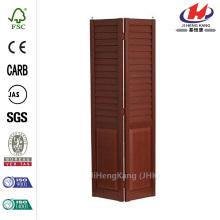 18 in. x 80 in. 3 in. Louver/Panel Cherry Composite Interior Bi-fold Door