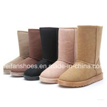 Warm Lady Suede Leisure Snow Boots for Winter
