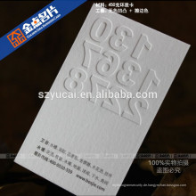 Siebdruck-Präge-Qualitäts-Visitenkarte