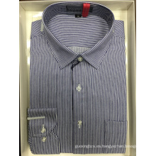 Camisa de negocios teñida en hilo de alta calidad