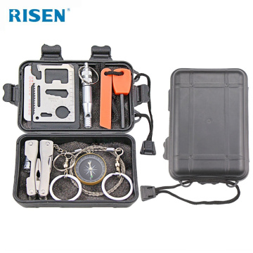Risen professional earthquake disaster survival kit,outdoor survival gear tool