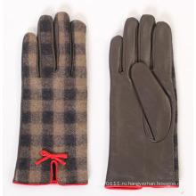 Леди мода овчины кожа вождения платье перчатки (YKY5169-1)