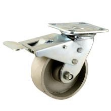 Type de frein double Type de frein Double roulement à billes Roulette à roues en fonte complète (KHX4-H12)