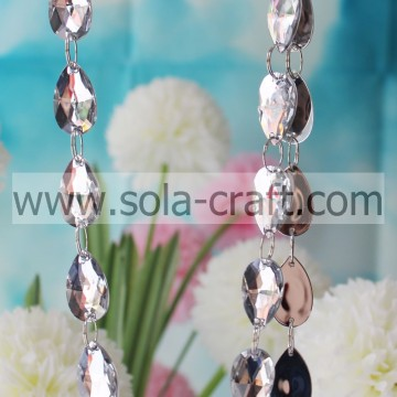 Fancy Nice Decoration Wholsesale Clear Acrylic Crystal Beaded Garland Strands Chains For Wedding Chandelier Curtains