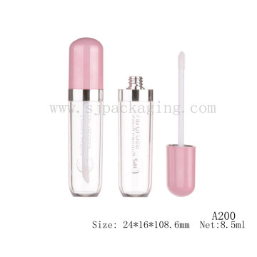 A200 Hot sale newest design pink lipstick lipgloss empty tube wholesale lipgloss product label cosmetic lipgloss tube