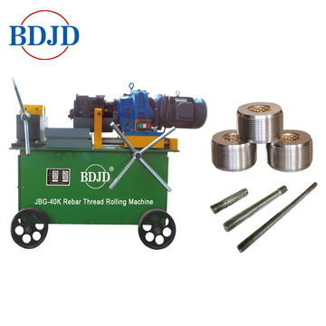 Splicing Rebar Rod Thread Rolling Mesin dengan High Precision 14-40mm