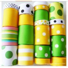 Wholesale Cheap Top Quality Christmas Woven Double Face Grosgrain Ribbon for DIY Handmade Ribbon