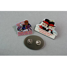 Promomtion Printing Badge Epoxy-Dripping Stainless Steel Badge (GZHY-YS-036)