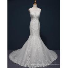 Vestido de boda de la sirena de encaje de alta calidad