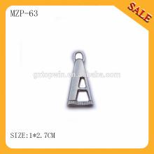 MZP63 personnalisé haute qualité Metal Zipper pour sac prix bon marché Y tooth metal zipper