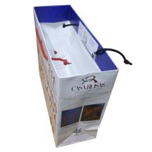 Saco de presente de papel comercial com alça