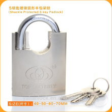 Beam Wrapped brass cylinder moon key nickle plated ARC type padlock