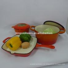Hersteller liefert Gusseisen-Kochgeschirr-Set
