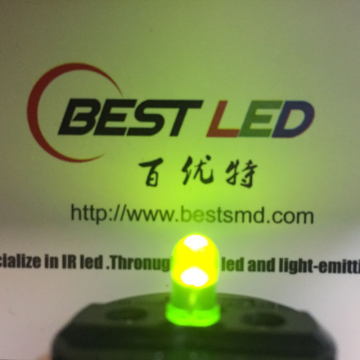 5mm 570nm LED Jaune-vert Diffuse LED