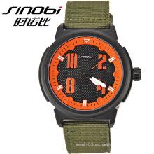 2015 Popular ronda Dial negro ejército reloj de pulsera para hombres reloj regalo