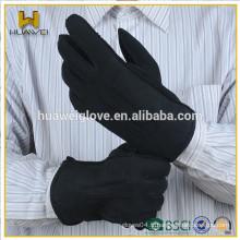 Coupe de couture externe Cuir Gants en cuir à double face noir avec bas prix