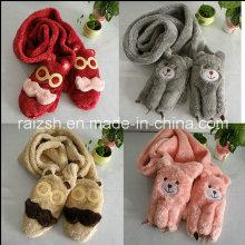 Handschuhe, Schals integrierte Plüsch Frauen lange Schals