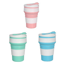Food silicone travel outdoor picnic folding coffee cup high temperature resistant lightweight sports storage cup