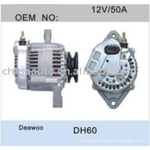 Engine Alternator Price List for DAEWOO DH60
