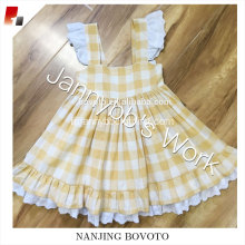 Yellow check well dressed wolf remake smocked dress