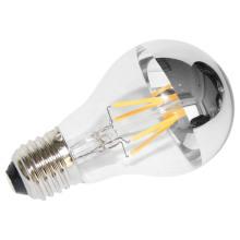 Venda Direta Da Fábrica A60 3.5 W E27 Lâmpada de Iluminação LED com Espelho Prateado Topo