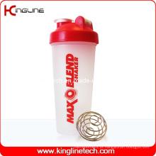 Garrafa protetora de proteína plastificada de 600ml com misturador Mixing Ball Inside