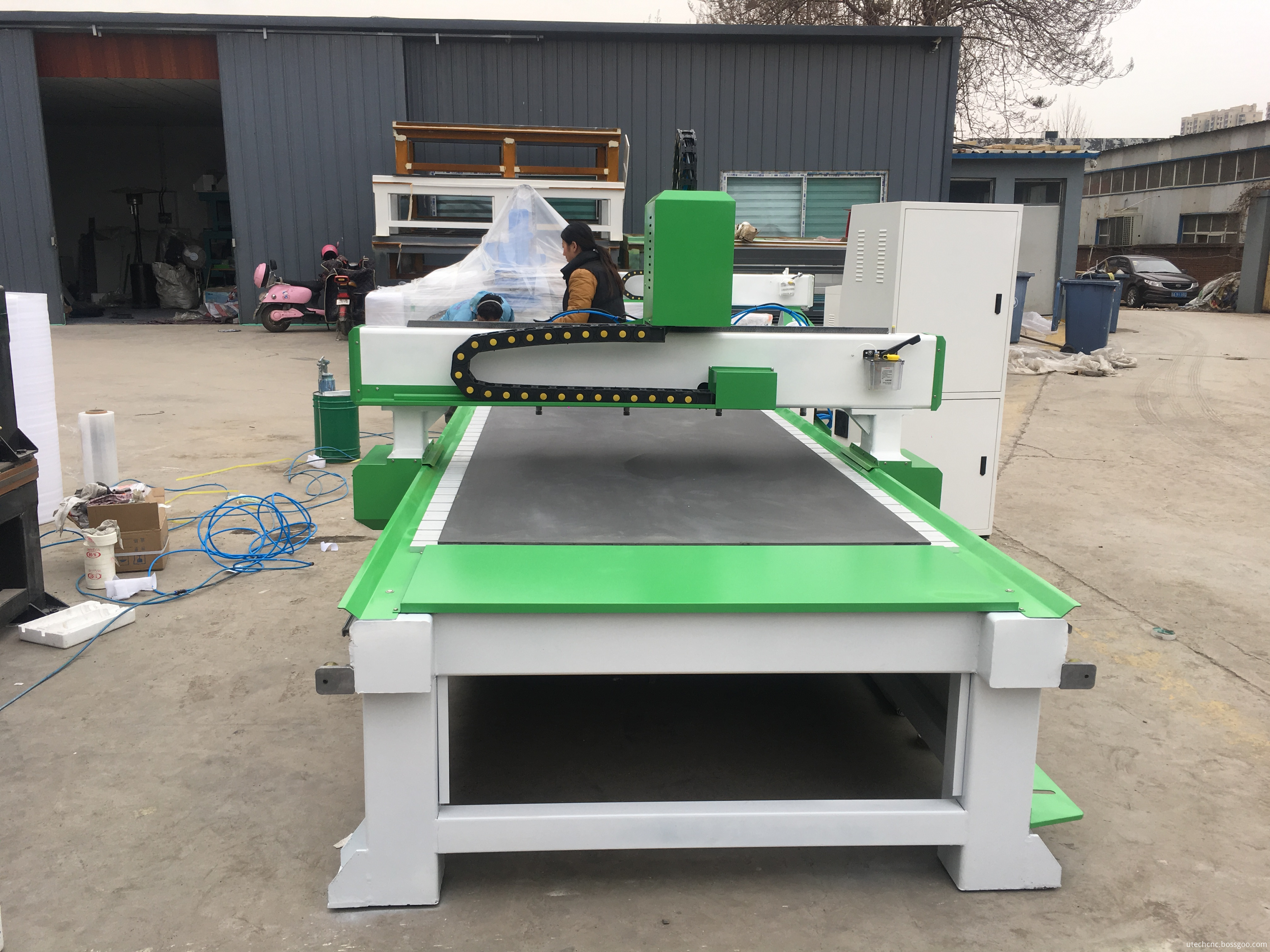 woodworking cnc router with rotary