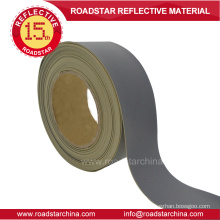 grey reflective synthetic pvc foam leather