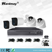 Kits de sistema de 4 canales 2.0MP Starlight CCTV DVR