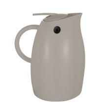 Pichet de café isolé par vide en plastique en verre d'acier inoxydable de 18/8