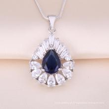 Atacado prata pingente de jóias colares pingente de cristal de prata