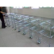 NSF Heavy Duty Adjustable Metal Wire Coche Carrito para uso comercial