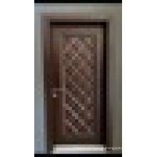 Diamond Design Luxury High Quality Pvc Coated WPC Door