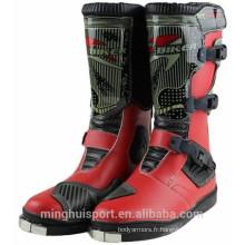 Chaussures imperméables de moto de cuir de style chaud bottes de course de motocross de la Chine